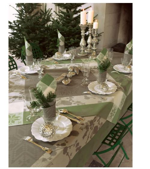 Sous la Neige, Sapin, Square Tablecloth