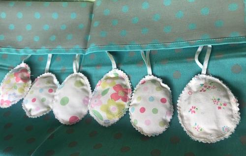 Hanging Fabric Eggs