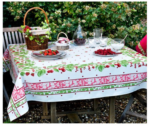 Beauville Strawberry and Cherry Tablecloth
