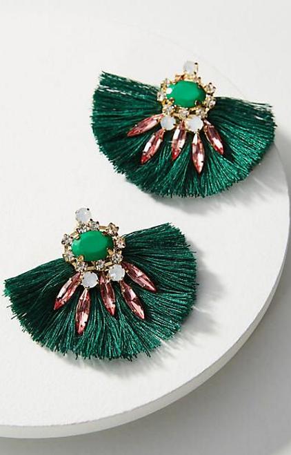 Fanned Drop Earrings