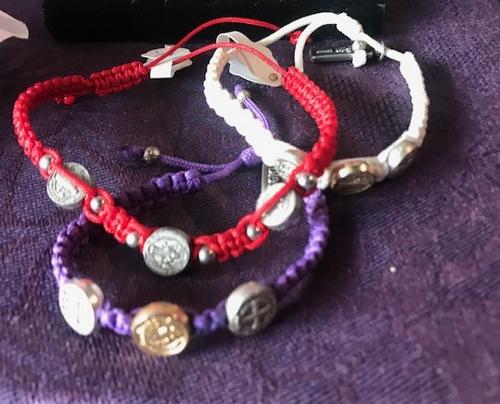 Adjustable Bracelet with Cross