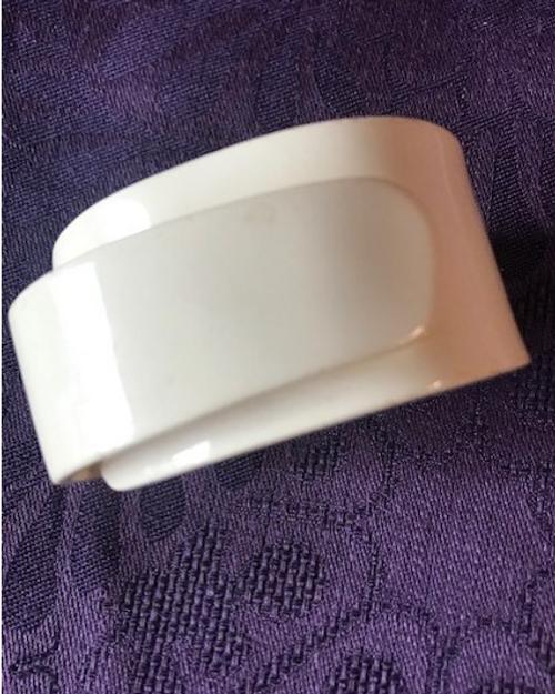 White Bakelite Bracelet