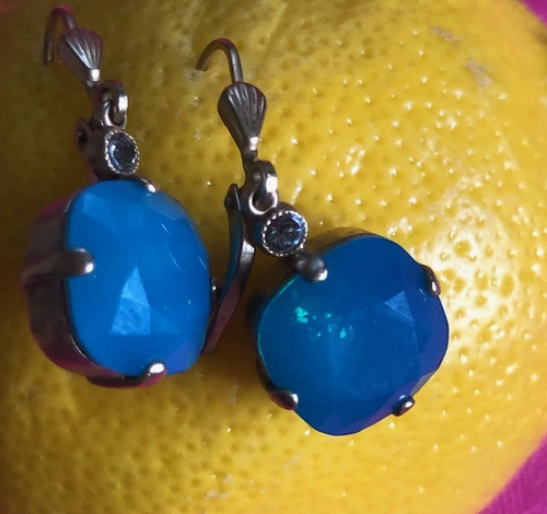 Earring with Turquoise Stone
