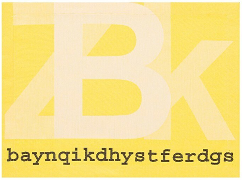 Typo Graph Yellow Placemat