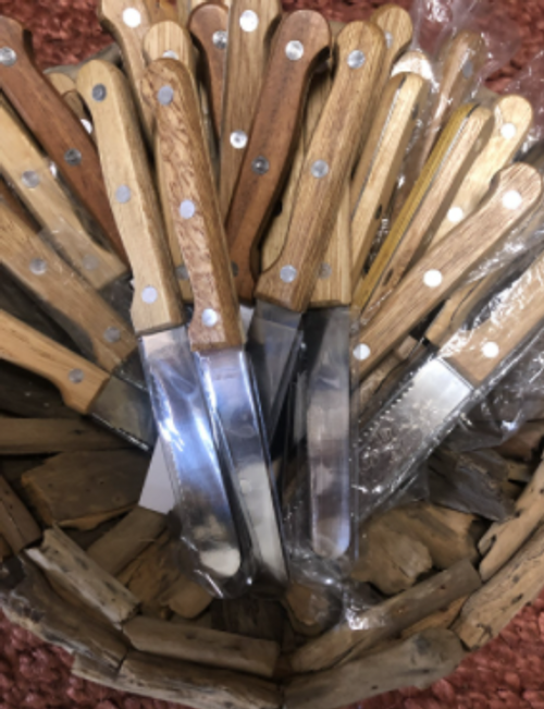 Knife with Wood Handle - Set of 6