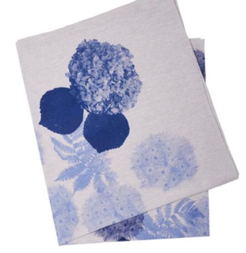 Hydrangea Blue Tablecloth