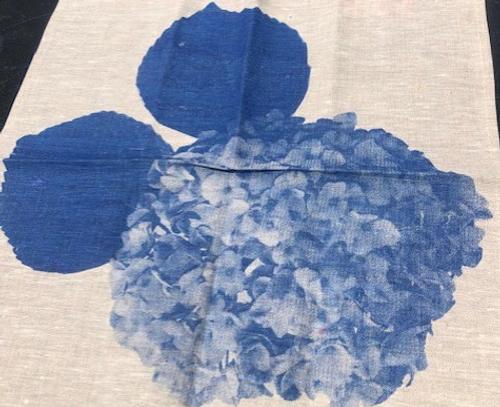 Hydrangea Linen Napkin