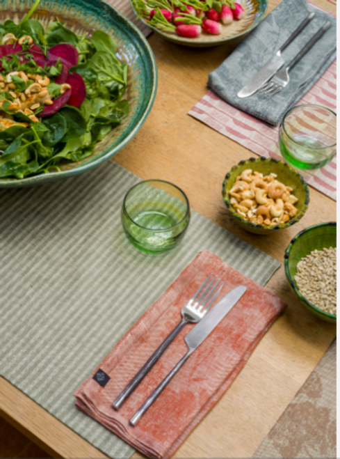 Casual Stripes Coated Placemats, Set of 4
