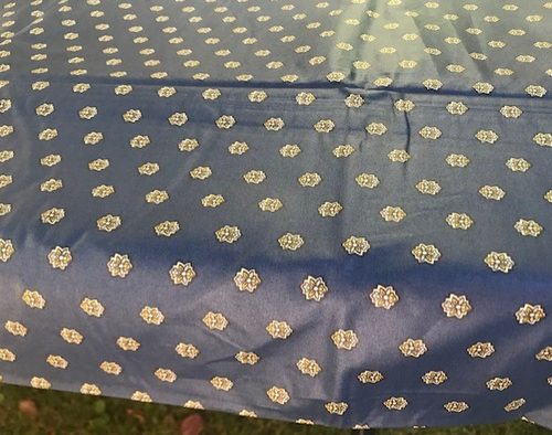 Navy Blue Provence Coated Tablecloth