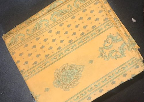 Yellow and Green Provence Coated Tablecloth