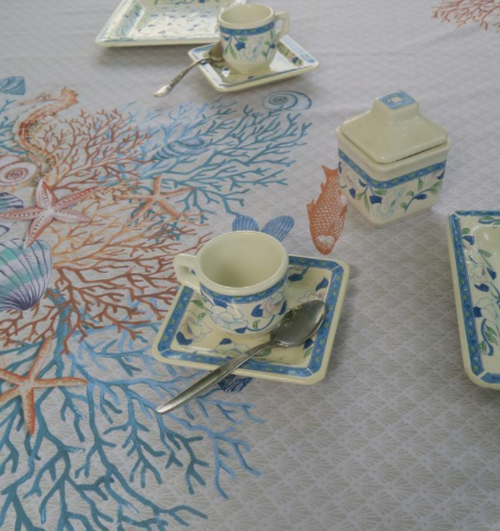 Ocean Tablecloth Square 70 x 70