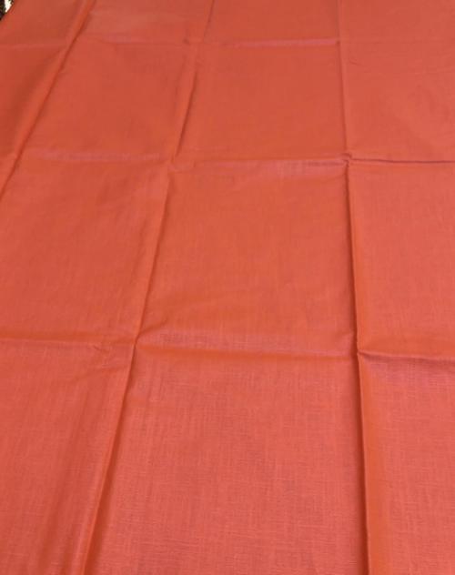 "Orange Coated Tablecloth, 59""x78"""