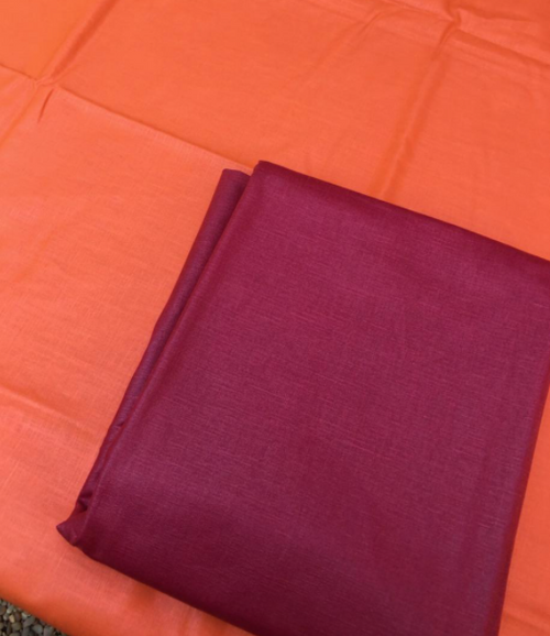 """Orange or Red Coated Tablecloth, 63""""x 98"""""""