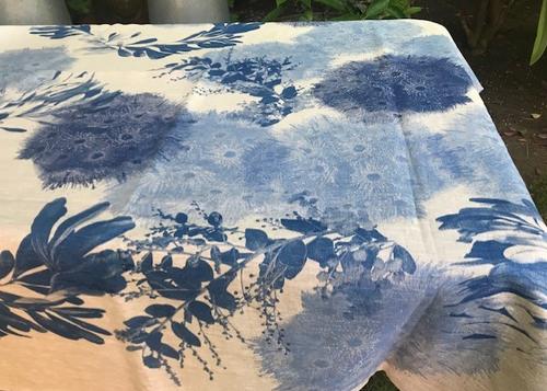 Blue Flowering Gums Linen Tablecloth