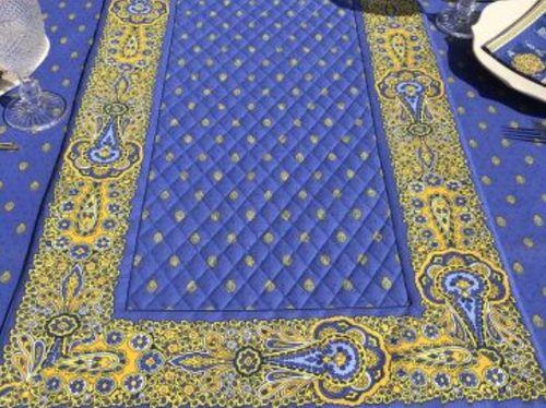 Quilted Runner Tradition, Blue and Yellow