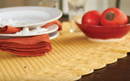 Quilted Runner Yellow