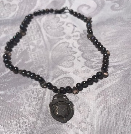 Fob Watch Necklace with Pearls