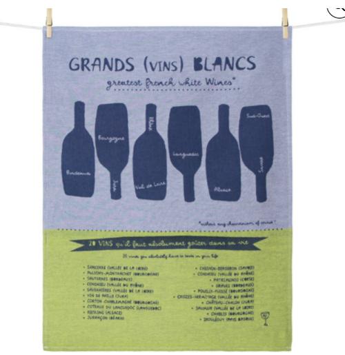 Grands Vins Blancs Kitchen Towel