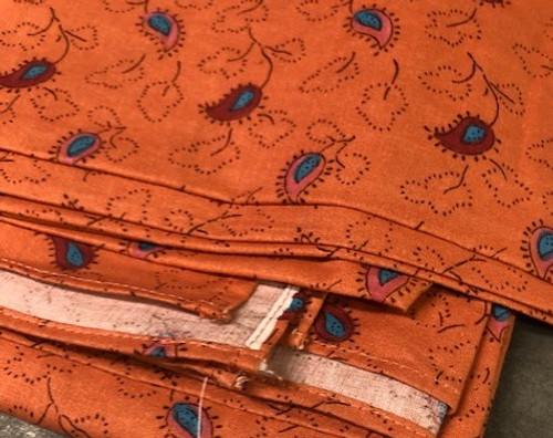 """Provence Tablecloth Orange with Paisley - 50"""" x 106"""""""