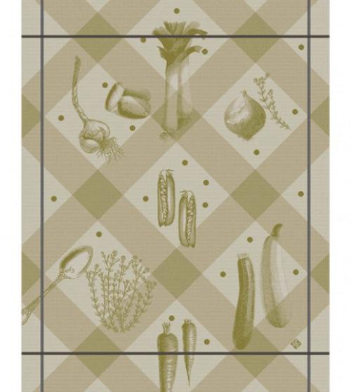 Legumes au Jardin Brown  Kitchen Towel