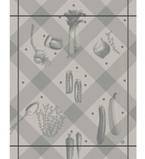 Legumes au Jardin Grey Kitchen Towel