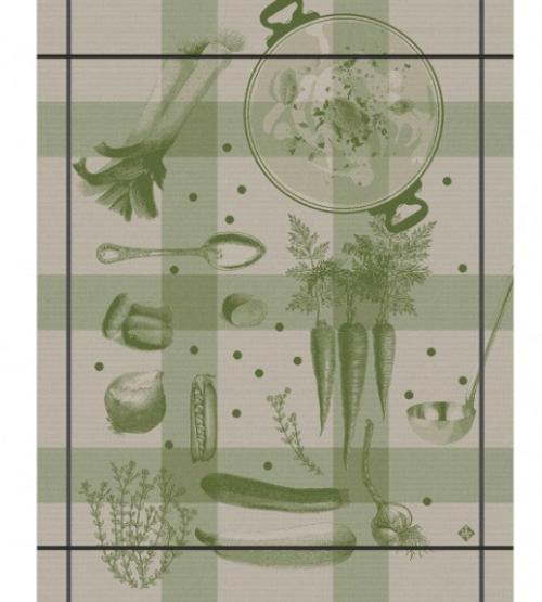 Legumes au Potager Green Kitchen Towel
