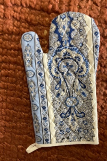 Oven Mitts Provence - Bastide White and Blue