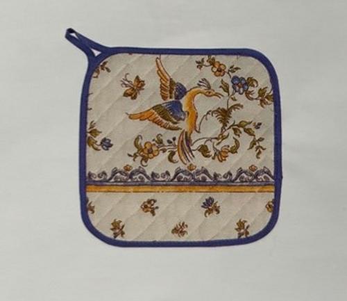 Provence Potholder - Moustier Blue and White