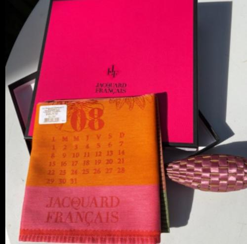 Lavender Wand and Calendar Dishtowel