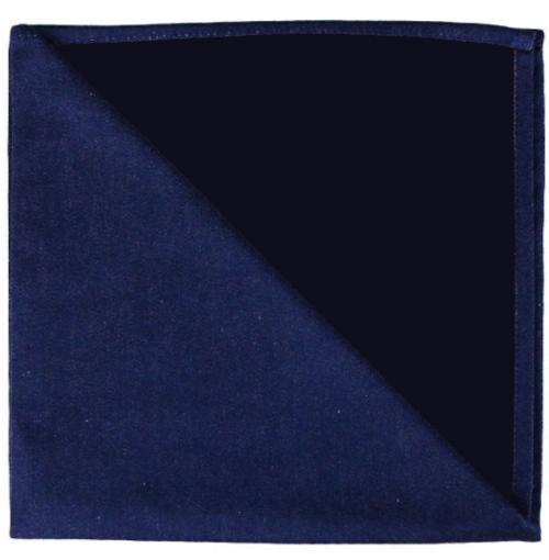 Bicolor Cotton Napkins Marine / Noir, Set of 6