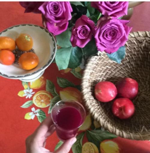 Citrons Lemon Orange Coated Tablecloth