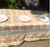 "Tutti Frutti Yellow Organza Tablecloth 71""x71"""