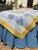 Cotton Organza Lemon Yellow / Blue