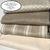 Coated Light Beige Stripe Linen Tablecloth