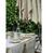 "Natural Linen Rainbow Tablecloth 63""x126"""