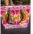 Embroidered Handbag, Green, Mustard and Pink