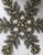 Beaded Star / Snowflake Ornament, set of 2
