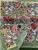 Jardin Red Green Cotton Organza Napkins, Set of 6