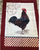 Rooster with Red Border Kitchen Towel