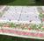 """Strawberry and Cherry Tablecloth, Square 60""""x 60"""""""
