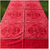 """Red Geometric Tablecloth, Square 65"""" x 65"""""""