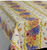 """Rectangular Tablecloth with Linear Print,  78"""" and 120"""""""