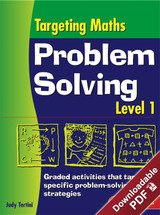 Targeting Maths Problem Solving - Strategy and Work Sheet Book - Level 1