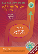 Maximising Test Results - NAPLAN*-style Literacy: Quick Skills Tests, Year 7 Language Conventions