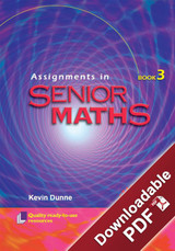 Assignments in Senior Maths - Book 3