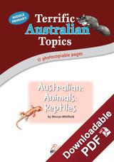 Terrific Australian Topics - Australian Animals: Reptiles - MP