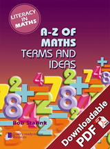 Literacy in Maths - A - Z of Maths Terms and Ideas