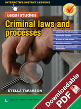 Interactive Instant Lessons Legal Studies - Criminal Laws and Processes