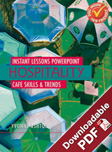 Instant Lessons PowerPoint - Hospitality - Cafe skills and trends