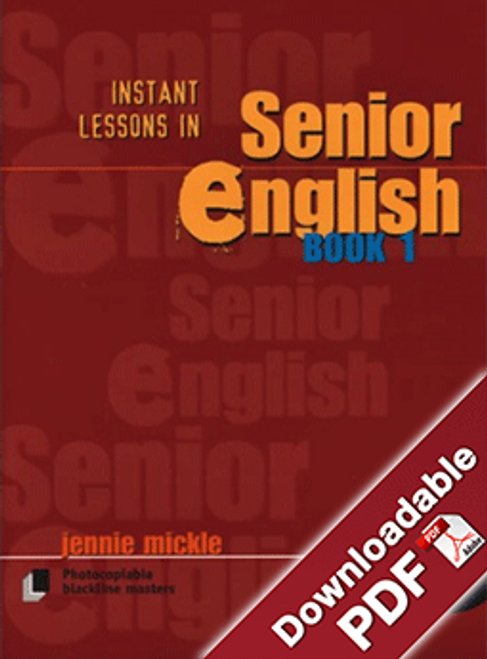 Instant Lessons in Senior English - Book 1